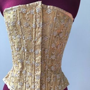Gold lace bustier / corset